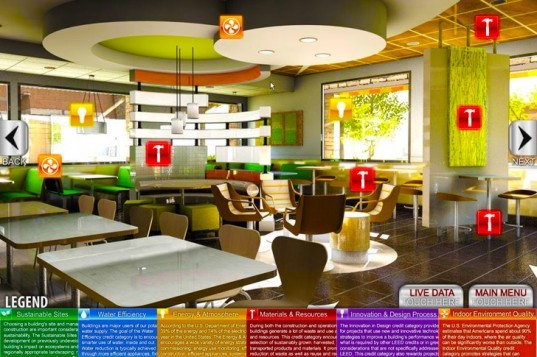 green Mcdonalds, LEED Gold, green marketing, green design, sustainable design, energy efficiency, sustainable building