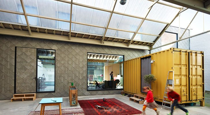 Bomastraat Belgian Warehouse Home Shelters Three Shipping Containers Inside