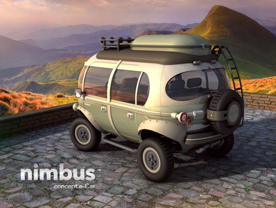 Nimbus e-Car, concept hybrid bus, automobile design, Eduardo Galvani, electrical engine, lithium-ion battery powered car, car design, hybrid car design, low energy consumption cars,