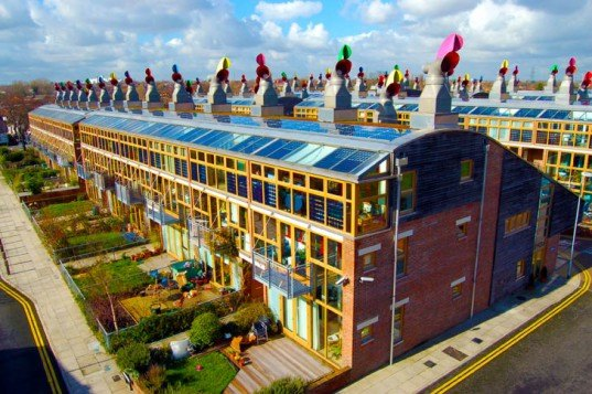 BedZed, UK, green development, net zero carbon, zero waste, one planet community, carbon neutral, residential developments, sustainable principles
