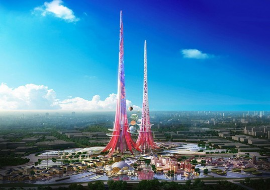 Chetwood Architects, Phoenix Towers China, Phoenix Towers Wuhan, China architecture, world's tallest towers, world's tallest interconnected towers, interconnected towers, sustainable towers, renewable energy towers, renewable energy
