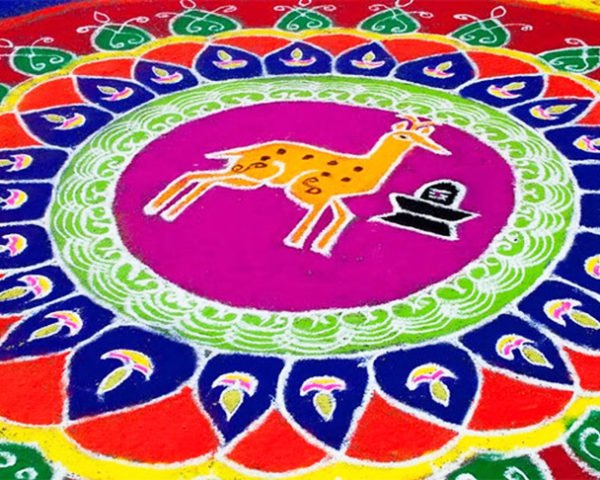 Spectacular Rangoli Designs Made From Naturally Colored Rice