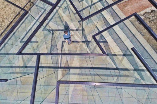 Robert Morris, Glass Labyrinth, Kansas City, The Nelson-Atkins Museum of Art, public art, Art,