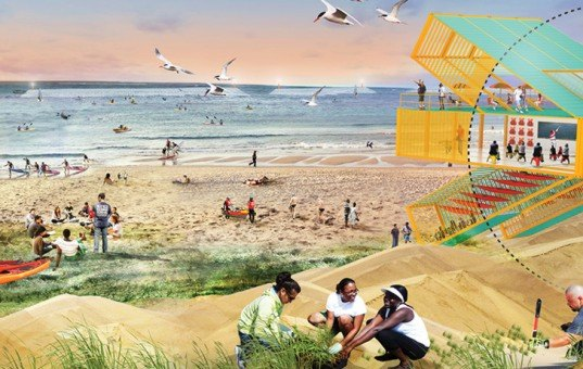 SCAPE/Landscape Architecture, Living Breakwaters New York, New Jersey, Housing and Urban Development, Rebuild by Design, Superstorm Sandy, climate change, resiliency, flood prevention, Shaun Donovan