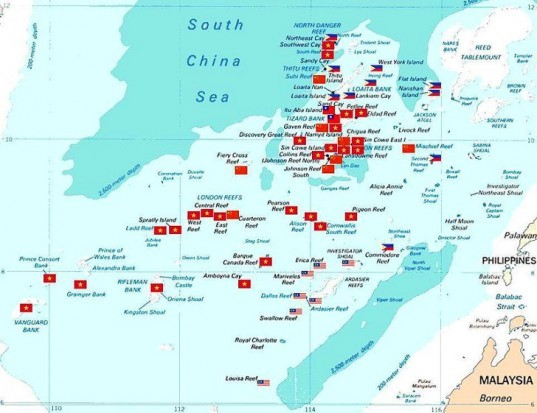 China, China building islands in the Spratlys, Spratly Islands, Spratly Archipelago, Vietnam, the Philippines, South China Sea, territorial disputes, South East Asia