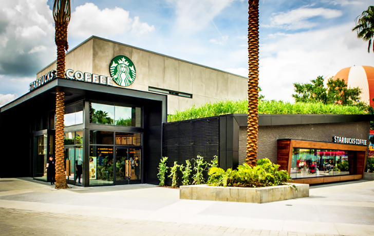 Starbucks 500th LEED Certified Store Boasts A Roof Of Coffee Fed