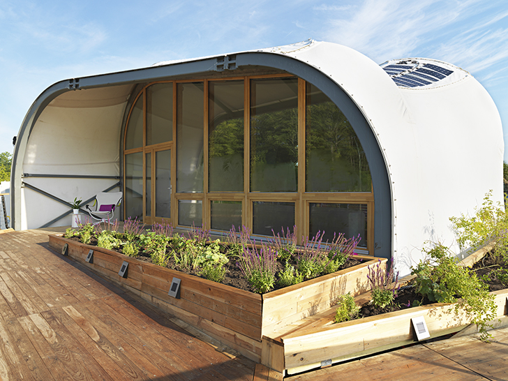 0ef771bcb Solar-Powered Techstyle Haus  Futuristic Fabric Shell Drastically Reduces  Energy Consumption