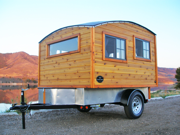 Bespoke Terrapin Camper Handcrafted From Wood Boasts A Domed Roof