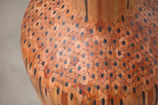 Studio Markunpoika, Faber-Castell, recycled pencils, wooden vases, Tuomas Markunpoika, Design Academy Eindhoven, art, craft, laith