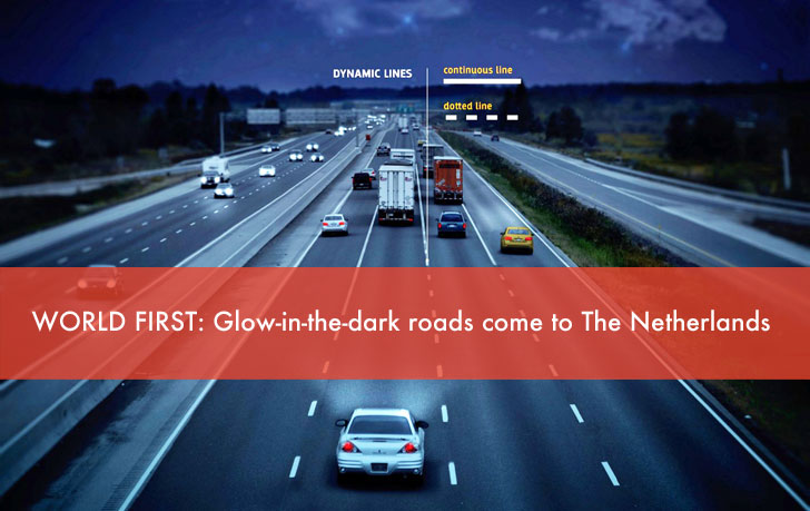 World's First Glow-in-the-Dark Road Promises a Brighter, More Energy-Efficient Future