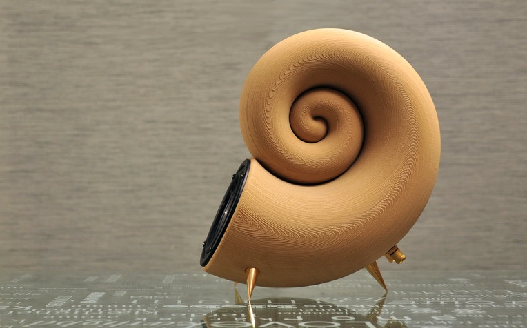 Spirula World S First 3d Printed Speaker Made From 100