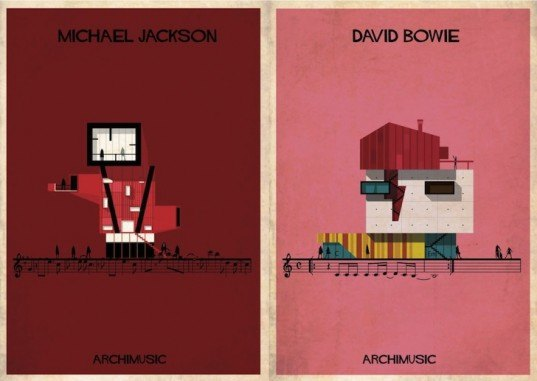 Federico babina, archimusic, architecture illustrations, david bowie buiding, Mozart building music inspired architecture, music inspired buildings, architecture art, music and architecture