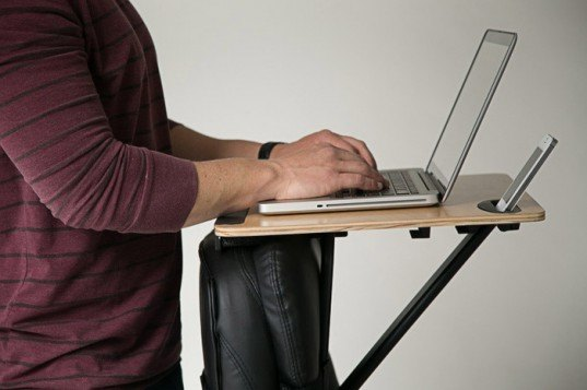 storkstand, standing desk, work station, mike goldberg, reader submitted content, kickstarter, standing desk mobile, mobile standing desk, portable standing desk