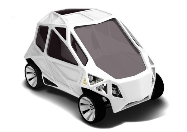 Mauro Fragiotta, Mark Beccaloni, geodesic, geodesic car, exo, electric car, green design, sustainable design, green transportation, geodesic dome, concept car, ev, electric vehicle