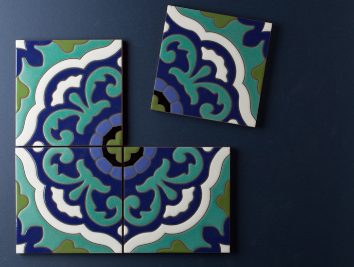 Fireclay Tile Debuts Hand Painted Mediterranean And Modern Tiles Made From 70 Recycled Clay Inhabitat Green Design Innovation Architecture