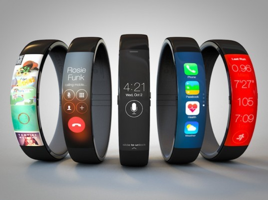 Apple iWatch, Apple smartwatch, wrist watch design, high-tech gadgets, green gadgets, wearable technology, green technology, Apple technology, Apple gadgets, curved OLED display, Tim Cook Apple