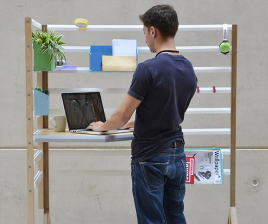 your position, david manning, green design, sustainable design, office workspace, standing desk, green office, sustainable interiors, green furniture, sustainable furniture, transforming furniture, office furniture