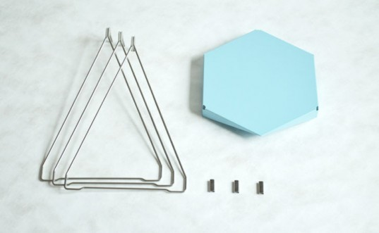 Lander, Parsons & Charlesworth, flat pack, side table, metal bending, powder coat, decorative objects, WantedDesign NYC, packaging, shipping