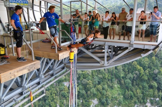 World 39 s longest suspension bridge and bungee jump heaven opens in sochi - Suspension hula habitat ...