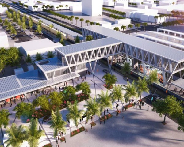 All Aboard Florida, Ft Lauderdale station, SOM, Zyscovich Architects, florida, train station, rail network