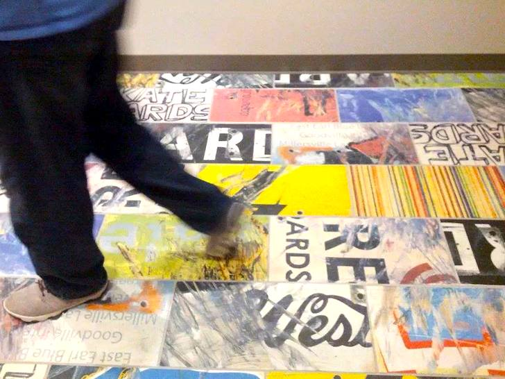 Art of Board Turns Old Skateboards into The Coolest Wall and Floor ...