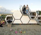 Stackable B-and-BEE Colonies Provide Sweet Shelter for Festival Goers in Belgium