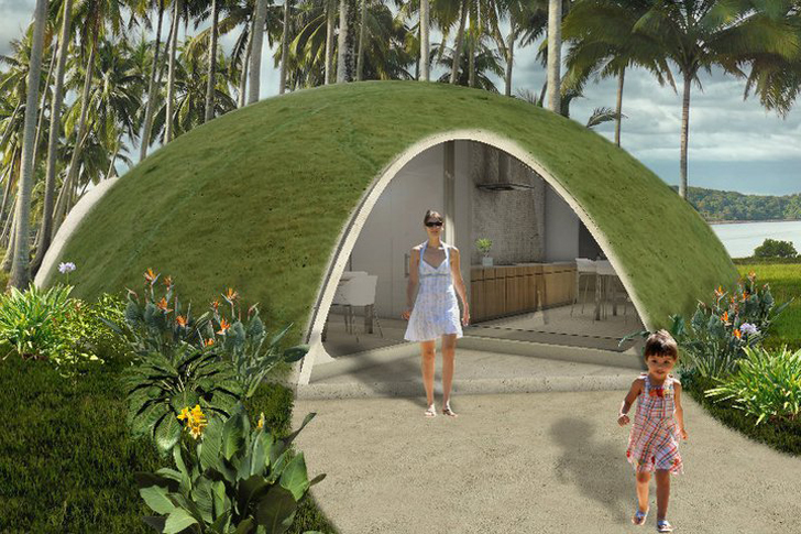 Colorful binishell dome homes made from inflatable for House shell cost