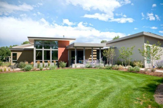 Boulder, Colorado, green homes in Boulder, Net-Zero Boulder Home, green materials, daylighting, solar power, Xcel Energy, home produces 140% power, Colorado green design, HMH Architecture & Interiors