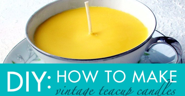 Diy Gift Idea How To Make Vintage Teacup Candles