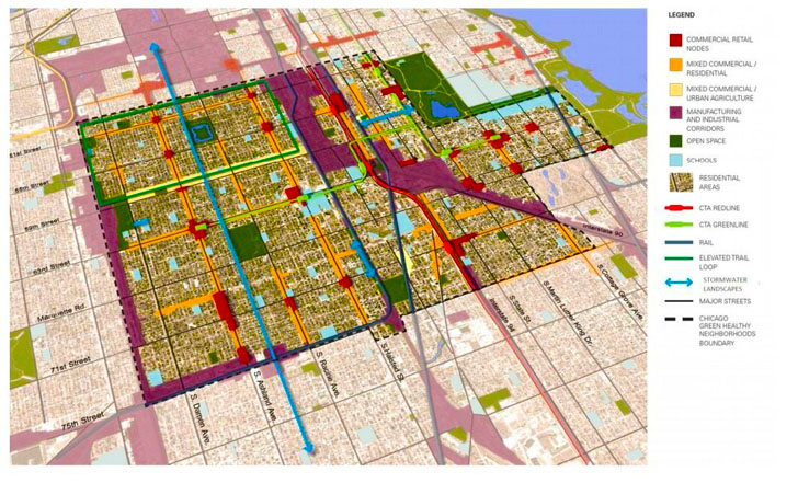 Chicago Green Healthy Neighborhoods Map  Inhabitat  Green Design