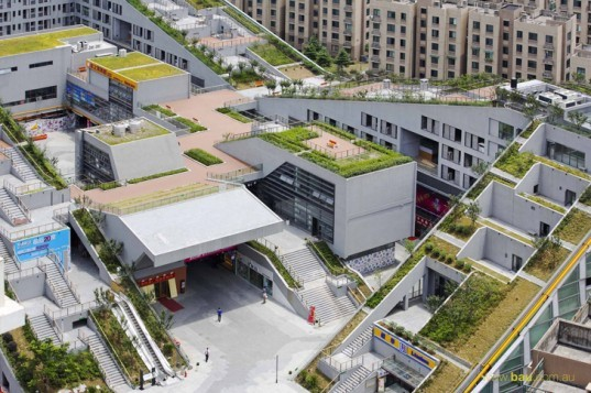 Labyrinthine Green Roofed Hangzhou Duolan Complex Combines