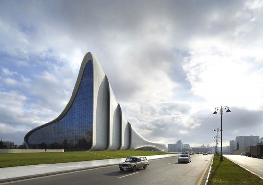 zaha hadid, heydar aliyev center, baku, azerbaijan, design of year, design of the year 2014, london design museum, zaha hadid design of the year, design of the year award, glass fibre reinforced concrete, soviet modernism, azeri culture
