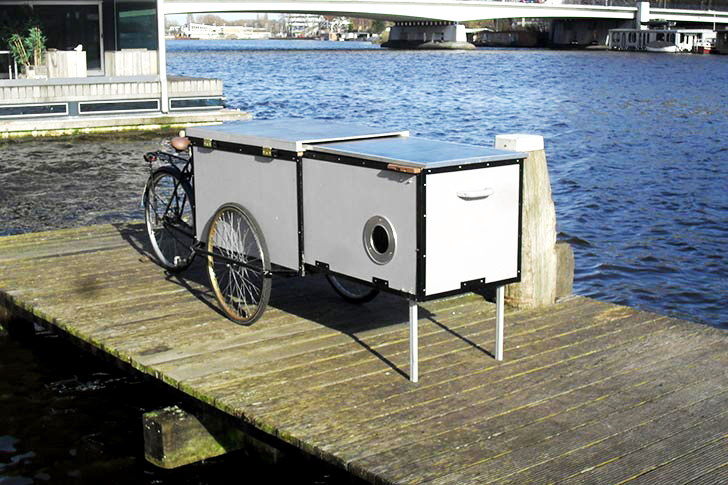 Housetrike Bike Camper Is A Tiny Shelter On Wheels That
