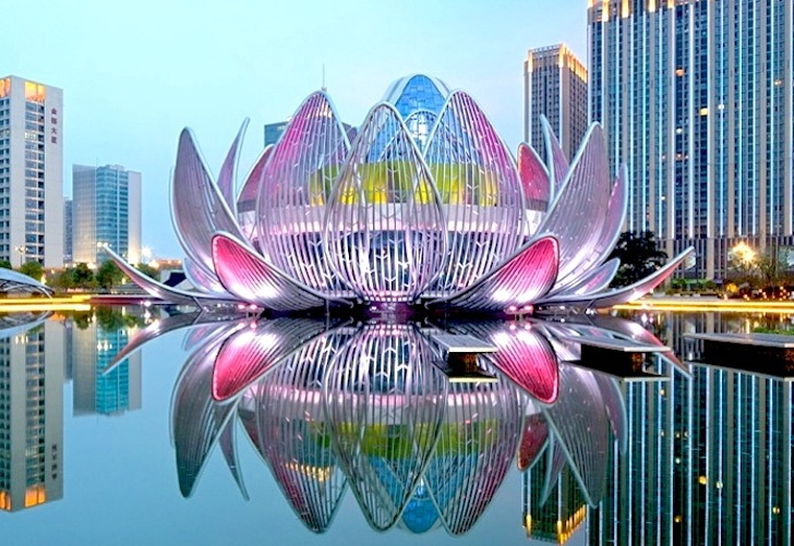 Spectacular lotus building and peoples park dramatically rises from architecture mightylinksfo