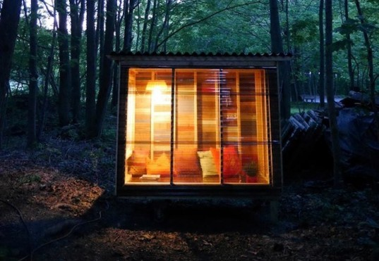 Do It Yourself Home Design: Adorably Tiny Study Cabin Was Built For $400 Using