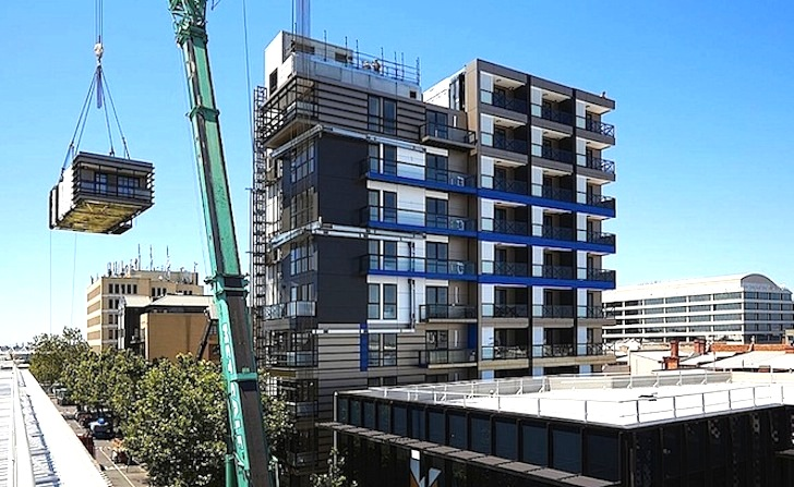 One9: Nine-Story Prefab Apartment Tower was Installed in ...
