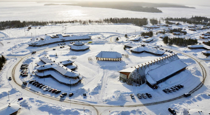 Gorgeous wooden aanischaaukamikw cree cultural institute for Lenet 5 architecture
