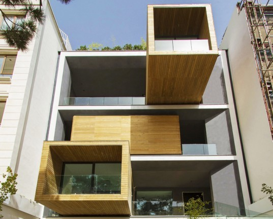 Sharifi House Tehran, nextoffice architecture, Tehran architecture, mobile home, mobile rooms, transformable homes, facade design, adaptable house, dynamic facades, space-saving house, space efficient house