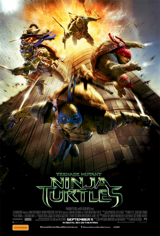 Teenage Mutant Ninja Turtles, TMNT, September 11, 9/11, Times Square, Michael Bay, Paramount Pictures, Paramount Pictures Australia, controversial teenage mutant ninja turtles poster, teenage ninja turtles 9/11 movie poster