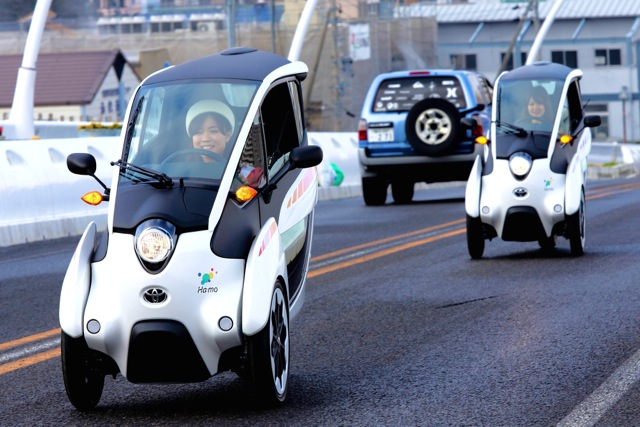 Three Wheeled Toyota I Road Electric Vehicle Becomes Part Of