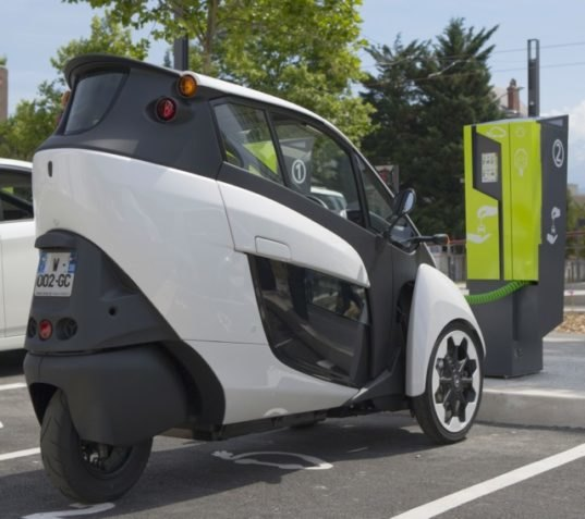 Three-Wheeled Toyota I-ROAD Electric Vehicle Becomes Part