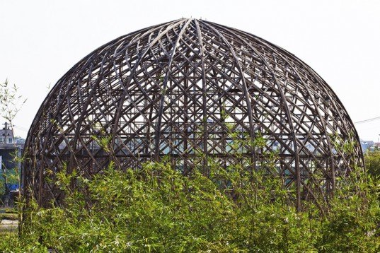 Vo Trong Nghia, bamboo domes, Vietnam, Diamond Island Community Hall, intricate bamboo structures