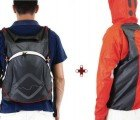 Trouble-free Funnell Backpack Ejects a Waterproof Jacket to Protect Cyclists from the Rain