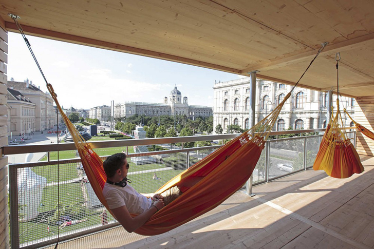Mobile House of 28 Hammocks Allows Visitors to 'Hang' for Free in Vienna |  Inhabitat - Green Design, Innovation, Architecture, Green Building - Mobile House Of 28 Hammocks Allows Visitors To 'Hang' For Free In