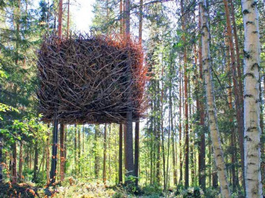 Tree Hotel, nests, nest-inspired design, biomimicry, patterns of nature, human habitat, bio-tecture,eco-design
