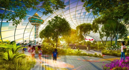 moshe safdie, geodesic dome, project jewel, buckminster fuller, living architecture, singapore, Changi Airport, green design, sustainable design, biosphere, sustainable architecture, green architecture