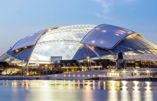 SportsHub Stadium, SportsHub, SportsHub Singapore, DP Architects, DP Architects stadium, stadium design, world's largest stadium, sports venues, largest stadiums, retractable roof stadiums