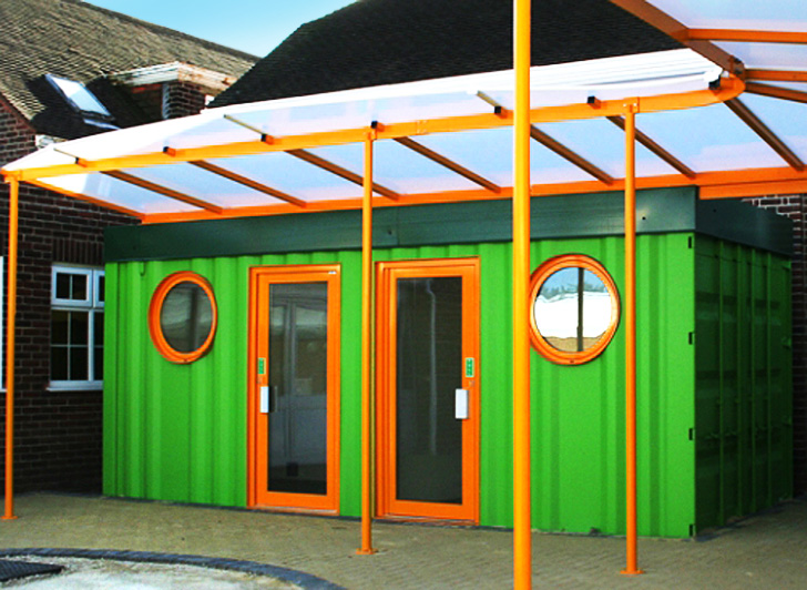 Used Shipping Containers Are Being Transformed Into