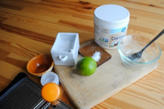 DIY, lip scrub, coconut, sea salt, lime, organic, how-to, cosmetics, summer