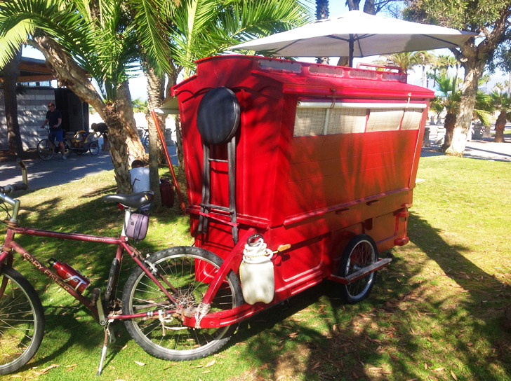 28-sq-ft bicycle caravan is a portable home for your inner bohemian